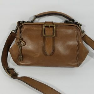 Fossil Vintage Revival Brown Leather Framed Bag